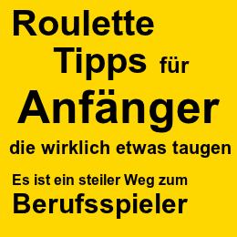 Roulette Tipps für Anfänger und Berufsspieler